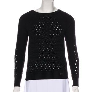 Tory Burch | Crew Neck Honeycomb Sweater